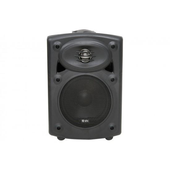 Coppia casse acustiche amplificate da muro nere - QR5B