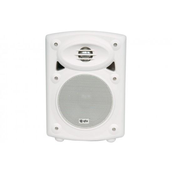 Coppia casse acustiche amplificate da muro bianche - QR5W