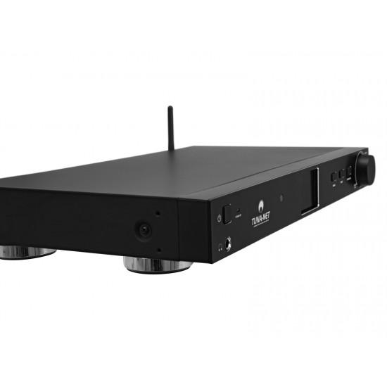Radio internet sintonizzatore FM e DAB+ con ricevitore Bluetooth Wifi e montabile a rak OMNITRONIC TUNA-NET
