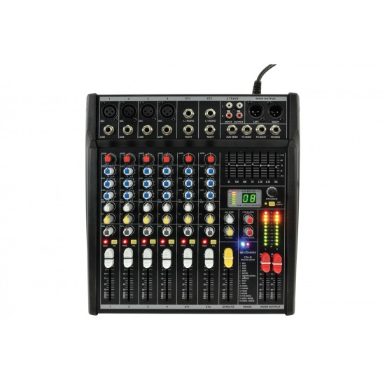 Mixer compatto 8 ingressi con DSP - CSL8