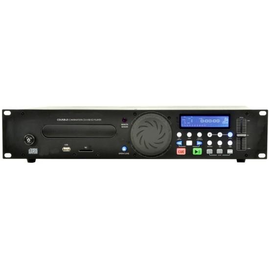 Lettore CD Audio Multimediale Professionale, MP3, USB, Memory Card SD, Controlli Per Dj e Telecomando