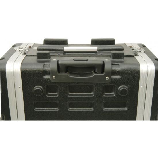 """Custodia trolley per rack in ABS valigetta protettiva per il trasporto attrezzature da 19"""" altezza 6U"""