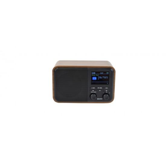 Radio Digitale Ricaricabile DAB+ con Bluetooth e Display a Colori - Nero