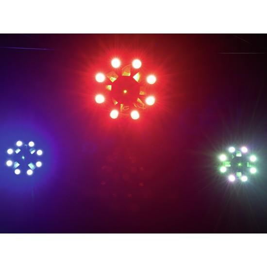 Effetto Luce Ibrido Laserflower 5 in 1 Eurolite LED FE-1750