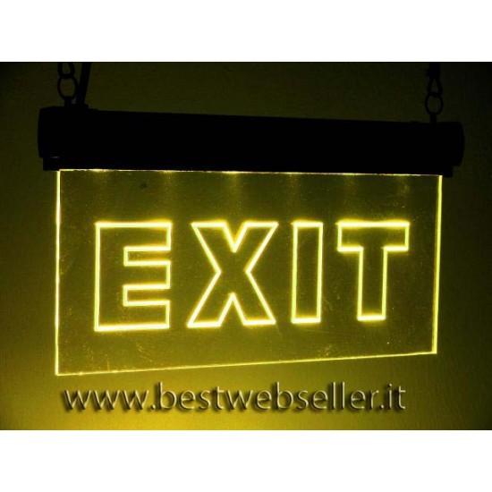 "Insegna Luminosa Led Eurolite ""EXIT"" RGB"