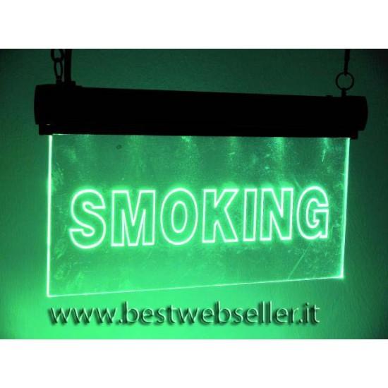 "Insegna Luminosa Led Eurolite ""Smoking"" RGB"
