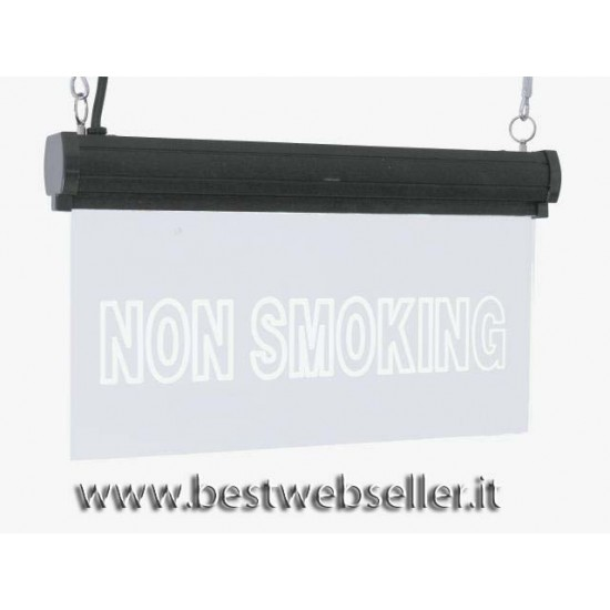 "Insegna Luminosa Led Eurolite ""Non Smoking"" RGB"