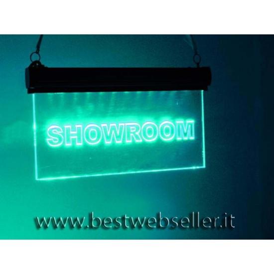 "Insegna Luminosa Led Eurolite ""Showroom"" RGB"