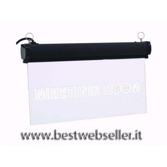 """Insegna Luminosa Led Eurolite """"Meetingroom"""" RGB"""