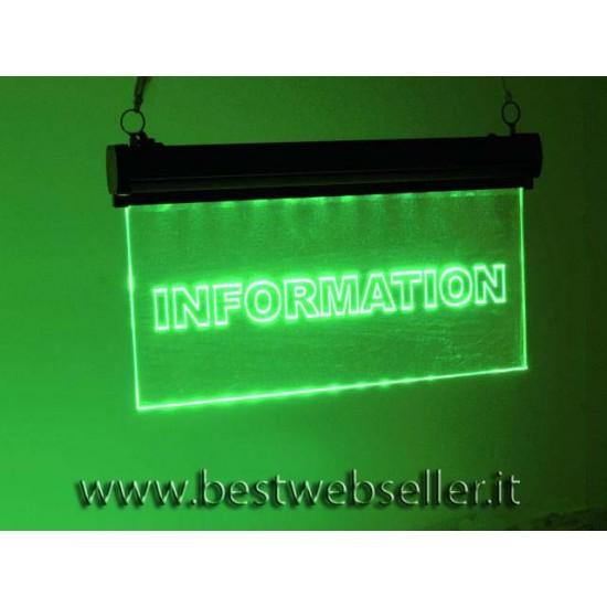 "Insegna Luminosa Led Eurolite ""Information"" RGB"