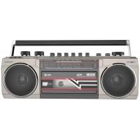 Lettore Audiocassette Radio MP3 USB SD Bluetooth Retrò Vintage Boombox Audio  Cassette Silver abc14d3b3279