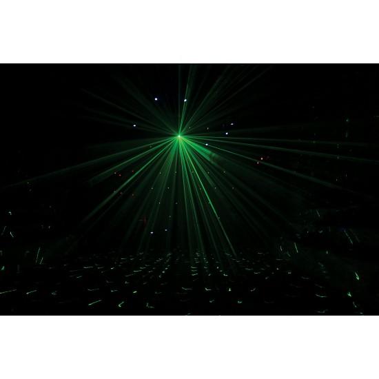 Effetto Luce LED Gobo + Cambiacolori + Laser Luci Discoteca Mobile Dj