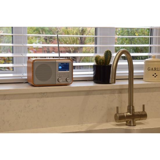 Radio Digitale Ricaricabile DAB+ con Bluetooth e Display a Colori - Silver