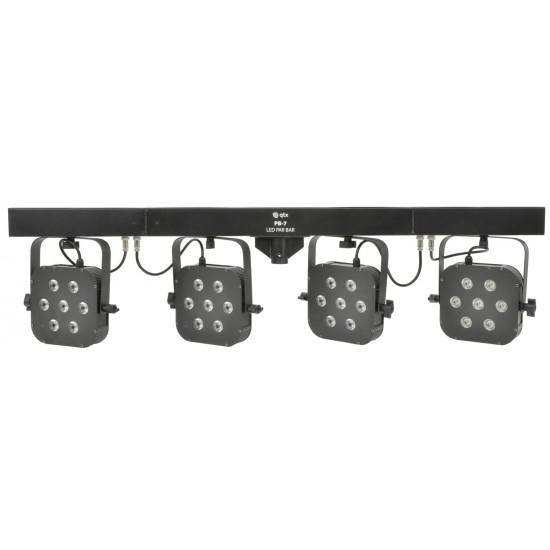 Kit PAR Slim LED-Bar Pieghevole Effetto Luce LED Strobo MoonFlower 100W