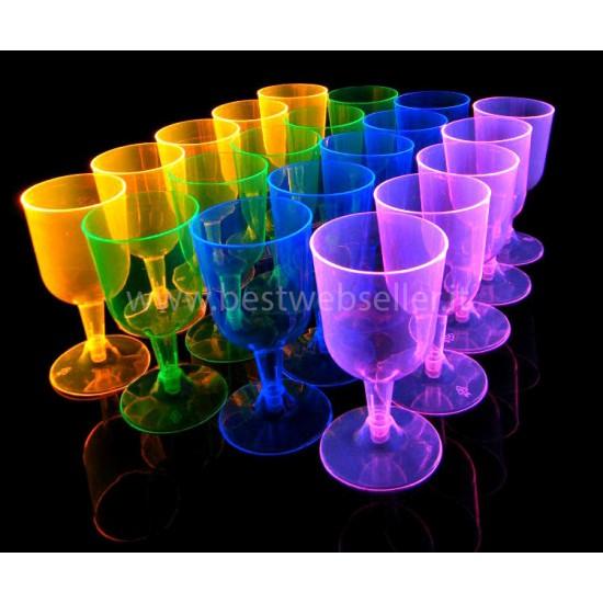 4 Bicchieri Reagenti Agli UV Wood Glow Fluo Per Il Vino - MOD4