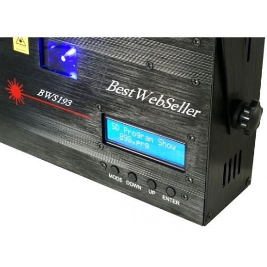 Effetto Luce Laser Blu + Mermory SD + Software PC + DMX BWS193