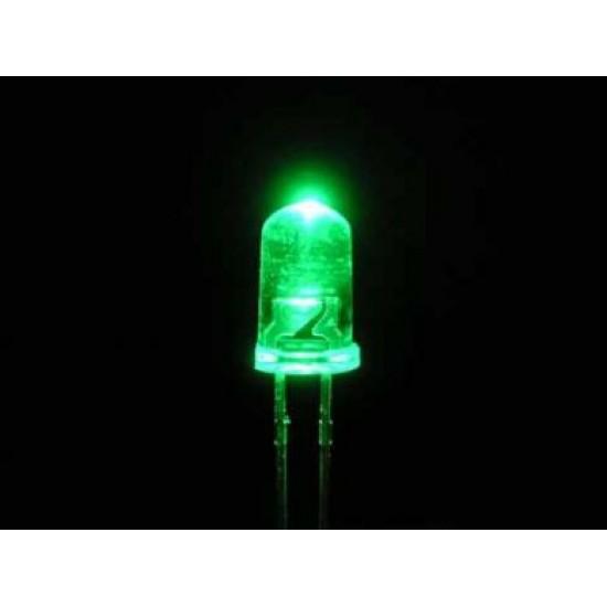 Led di ricambio 5mm alta luminosità - colore verde