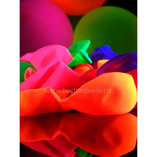 Confezione Palloncini Reagenti Agli UV Di Vari Colori 20 pezzi