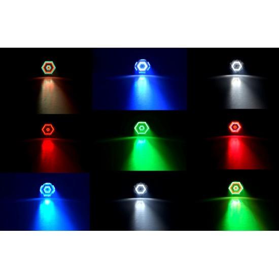 Proiettore Faro Par Slim LED RGBW DMX Strobo + Telecomando DEMO
