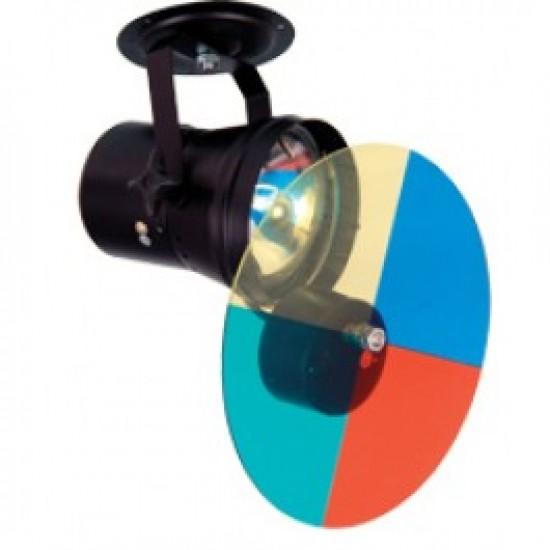 Proiettore Faro Par 36 Par36 + Filtri Motorizzati + Lampadina