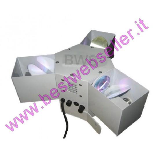 Effetto Luce Centropista LED 3 Teste DMX