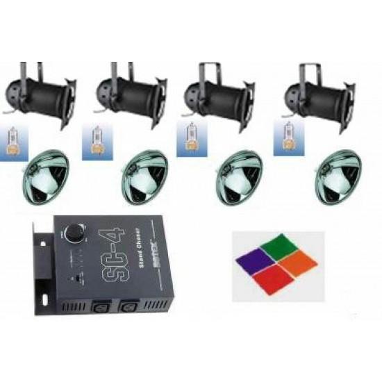 Kit Par64 + Lampadine + Centralina + Filtri - 2000 Watt