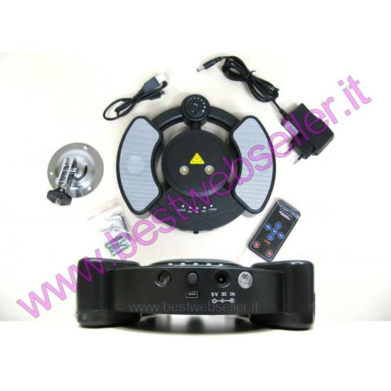 Lettore Audio Mp3 USB + Laser Stelllare Rosso Verde +Telecomando