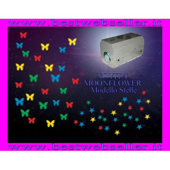 Effetto Luce Proiettore Stelle Moonflower Stelline