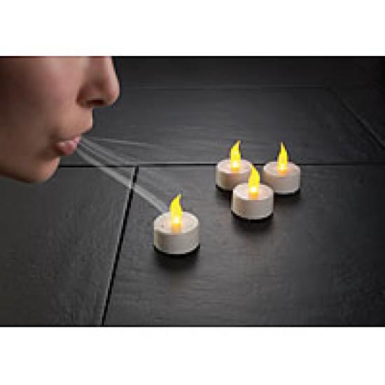 Candela Led Con Effetto Simulazione Fiamma - Si Spegne Soffiando