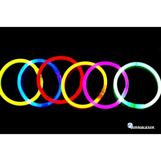 Bracciali Luminosi Glow Stick OmniaLaser con connettori - 1000 pezzi - Multicolore