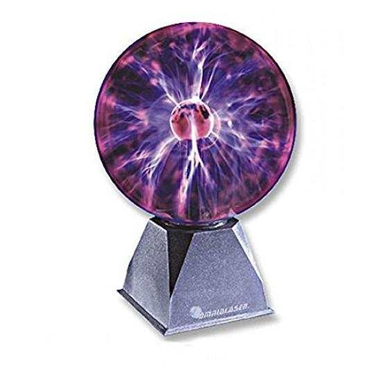 OmniaLaser OL-SP200 Lampada al Plasma Grande 20cm Sfera Decorativa Fulmini e Scariche Elettriche con Microfono Interno
