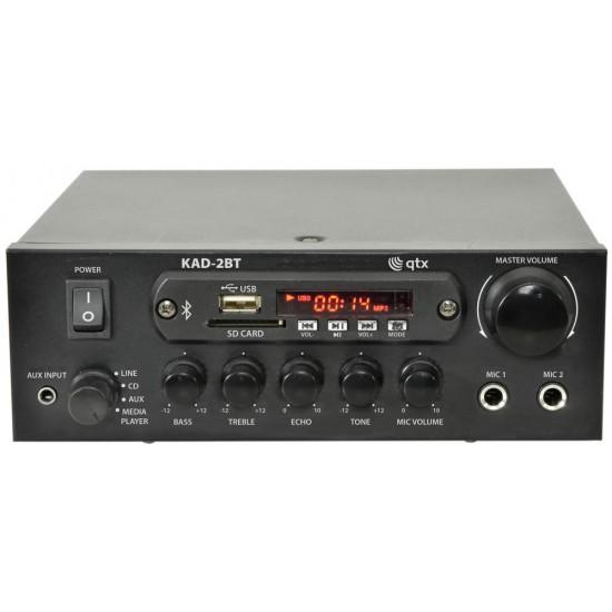 Amplificatore audio digitale compatto 2 x 55W multimediale con Bluetooth USB e radio FM KAD-2BT
