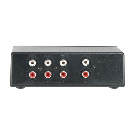 Distributore di segnale Audio Stereo CD/AUX switch, 3-way