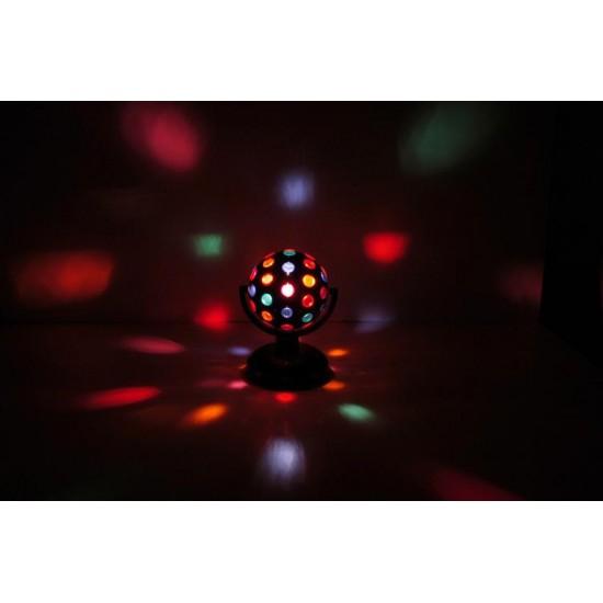 Effetto Luce Centropista Sfera Rotante 160, 5 colori