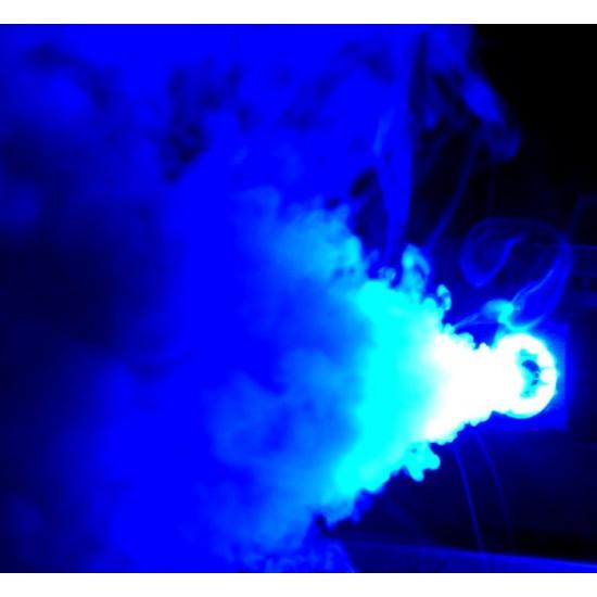 Macchina Del Fumo + Effetto Luce LED Blu + Telecomando