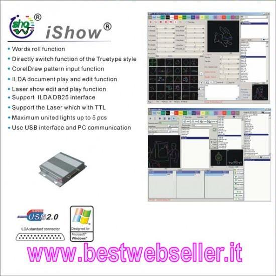 Software iShow + Interfaccia PC Usb Ilda