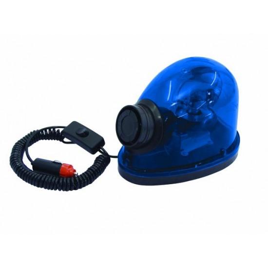 Lampeggiante per Automobile Auto BLU polizia con magnete & sirena