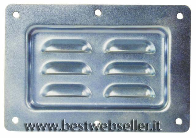 Inlet dish with venting slots,horiz. zinc