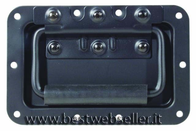 Hinged case handle, colore nero
