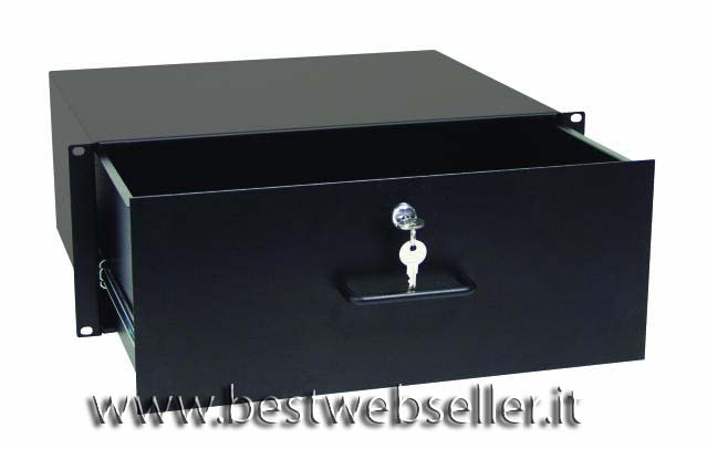 """19"""" rack drawer with lock, 4U"""