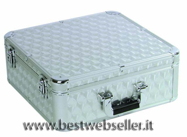 CD case alluminio polished per 100 CDs