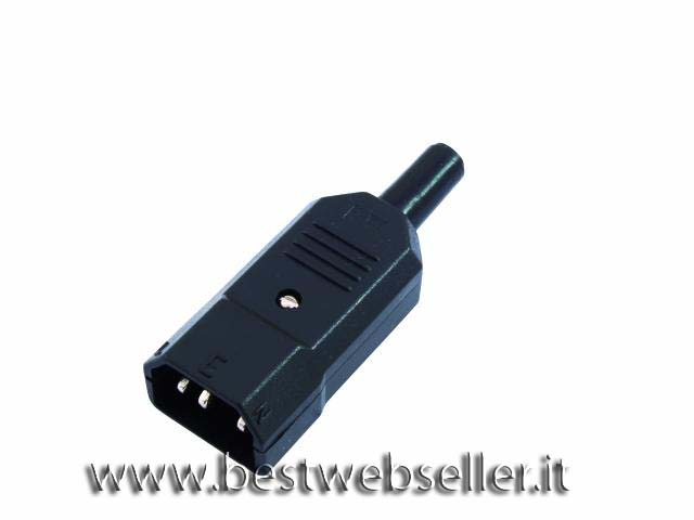 IEC 3 pin power plug 10 pezzi
