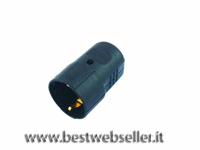 Black plastic electric socket