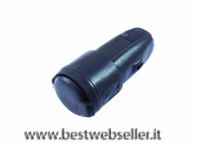 Black rubber electric socket prof.version