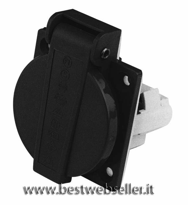 Electric mounting socket colore nero 230V 16A