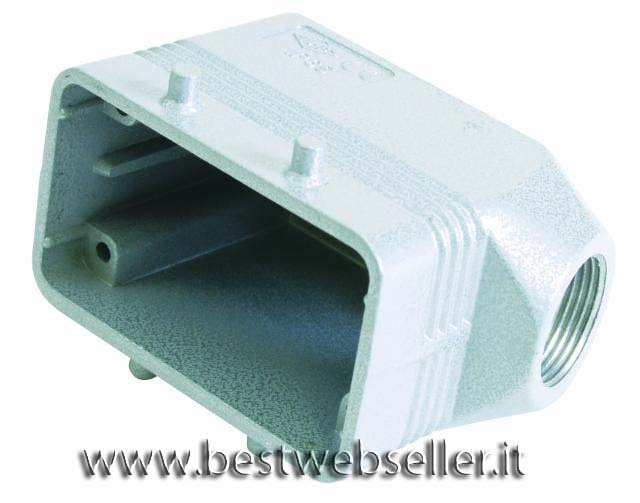 Socket casing per 10-pin, PG 16, angle