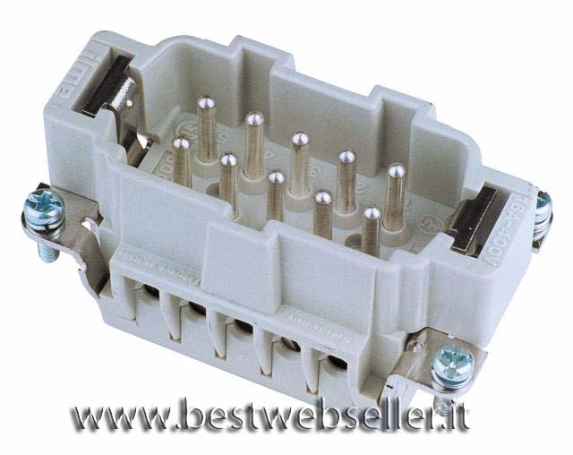 Plug insert 10-pin 16A, screw terminal