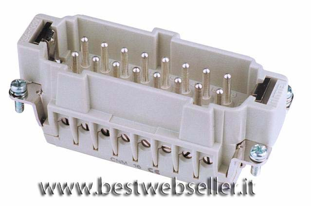 Plug insert per 16-pin 16A,screw termina