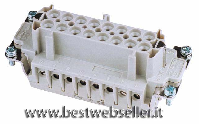 Socket inserts 16-pin 16A,screw terminal