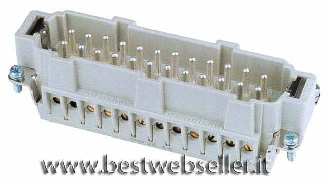 Plug insert 24-pin 16A,screw terminal